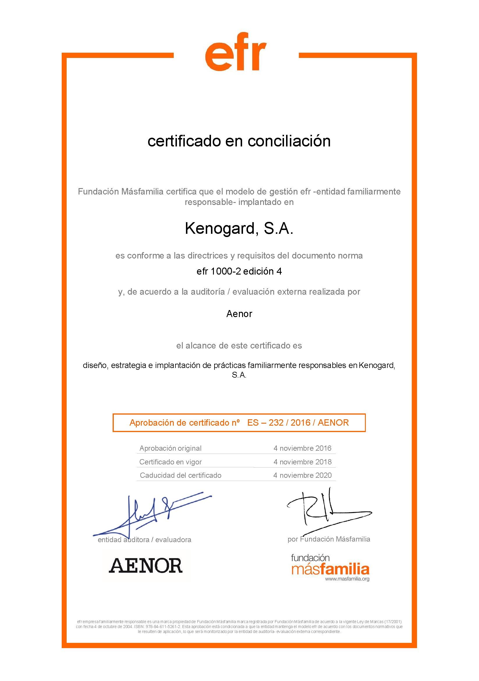 Renovamos Nuestro Certificado EFR